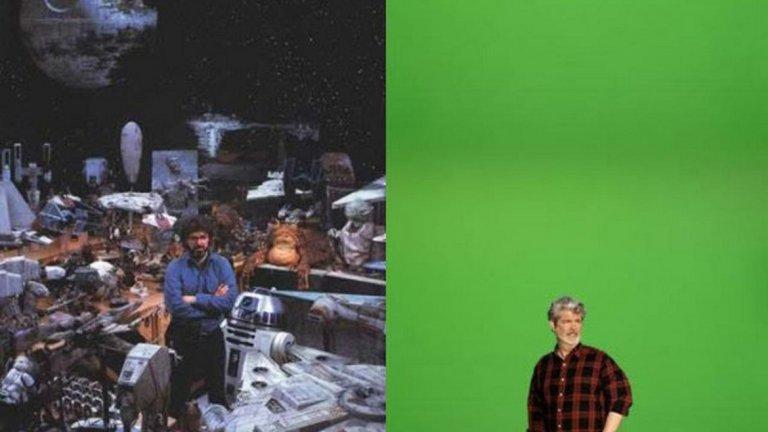 На Джордж Лукас му трябваше само зелен екран за създаването на прикуъл трилогията.