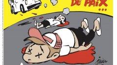 """Новата карикатура на """"Шарли едбо"""" отново засяга въпроса доколко ислямът е религия на мира"""