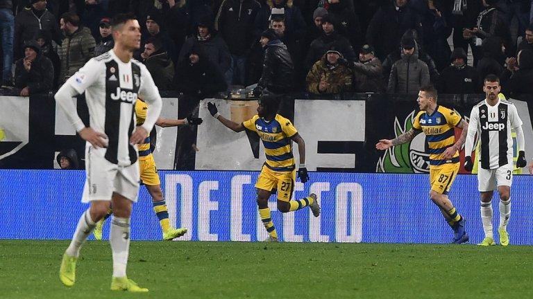 С двата си гола Роналдо поведе при реализаторите в първенството, но Юве пусна леки голове и показа, че не се намира в добра форма