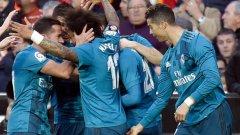 Кристиано Роналдо бе много щастлив след гола на Марсело.