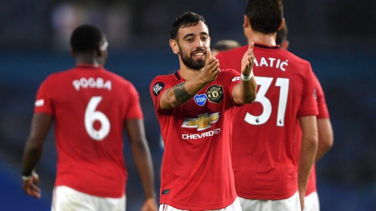 Фернандеш изигра поредния си страхотен мач за Юнайтед при визитата на Брайтън.
