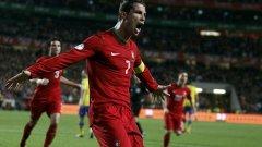 Роналдо заведе Португалия на мондиала с головете си в баража срещу Швеция и е голямата надежда на страната си в Бразилия.
