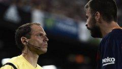 Жерар Пике бе наказан за четири мача