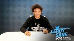 Лирой Сане подписа петгодишен договор с Манчестър Сити