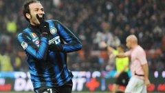 Новото попълнение на Интер Джампаоло Пацини дебютира с два гола срещу Палермо