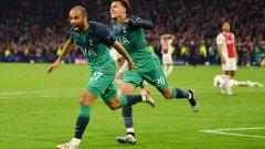 """Големият герой Лукас Моура вкара и трите гола за """"шпорите"""", които изоставаха с 0:2 на почивката и ситуацията им изглеждаше безнадеждна"""