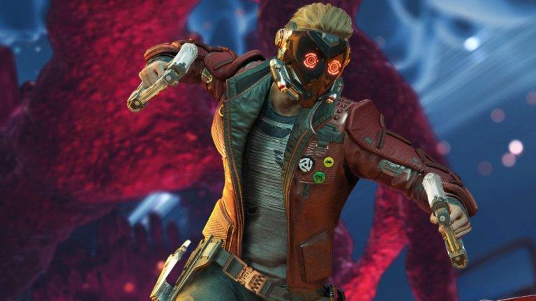 """Marvel's Guardians of the Galaxy  Ако харесвате филмите за """"Пазителите на галактиката"""", много възможно е да харесате и играта, но трябва да имате предвид, че визиите на персонажите са базирани на комиксите, а не на актьорите от филма. В Marvel's Guardians of the Galaxy ще поемете контрола над Питър Куил/Звездният повелител, а останалите членове на групата междузвездни приключенци - Гамора, Рокет, Груут и Дракс - са управлявани от изкуствен интелект, а вие ще ги мотивирате... с речи и пускане на песни."""